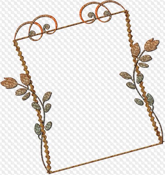 7 Psd 7 Png Decorative Metal Frames Design Elements Border