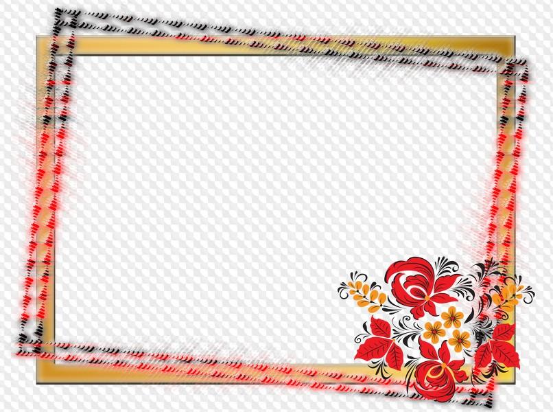3 PNG, PSD en capas, Marcos decorativos horizontales con un ...