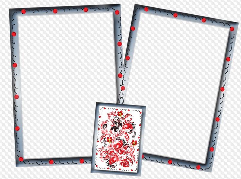 3 PNG, PSD en capas, marcos decorativos verticales dos fotos con ...