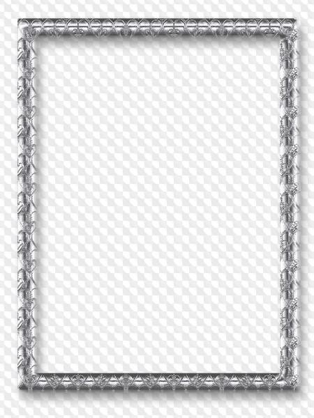 Silver border frames PNG, 66 images
