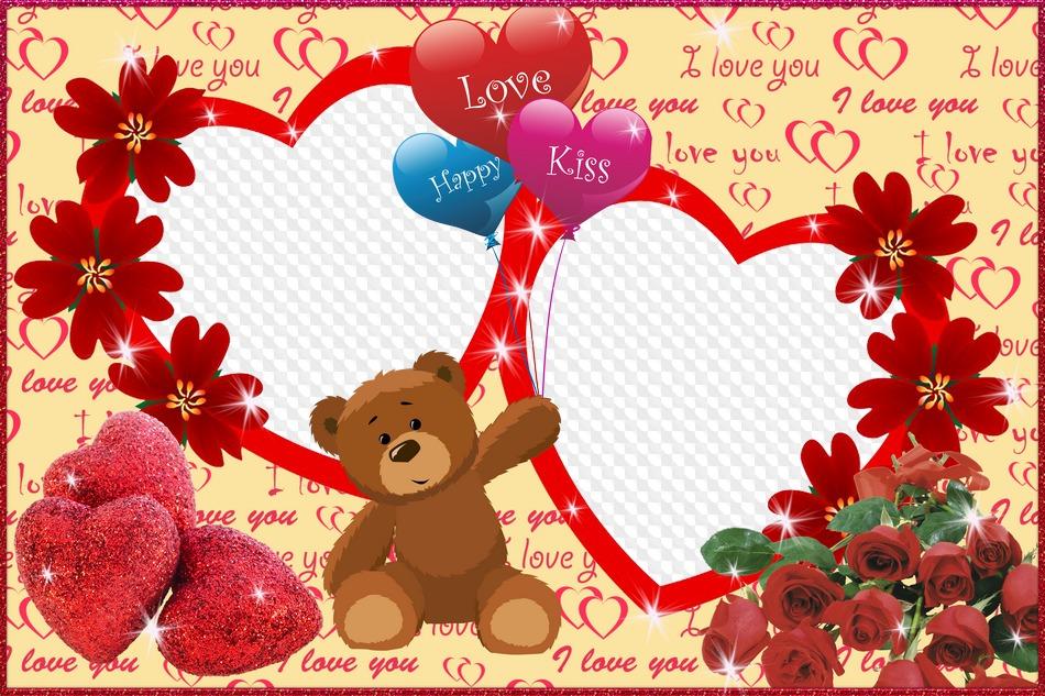 PSD, PNG, amor, corazón, marco para Photoshop - beso del Amor. Marco ...