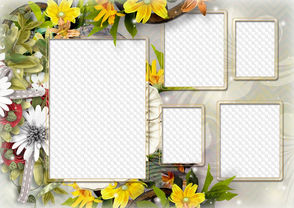PSD, PNG, Photo frame My family, 5 photo. Transparent PNG Frame, PSD ...