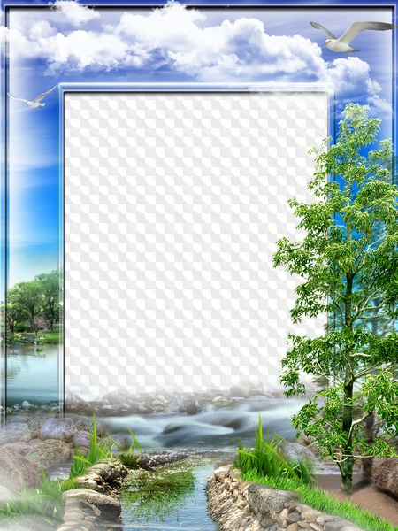 photo frame green nature transparent png frame psd layered photo frame template download frame psd layered photo frame template