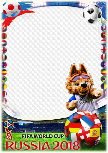 Photo Frame, FIFA World Cup, 2018. Transparent PNG Frame, PSD ...