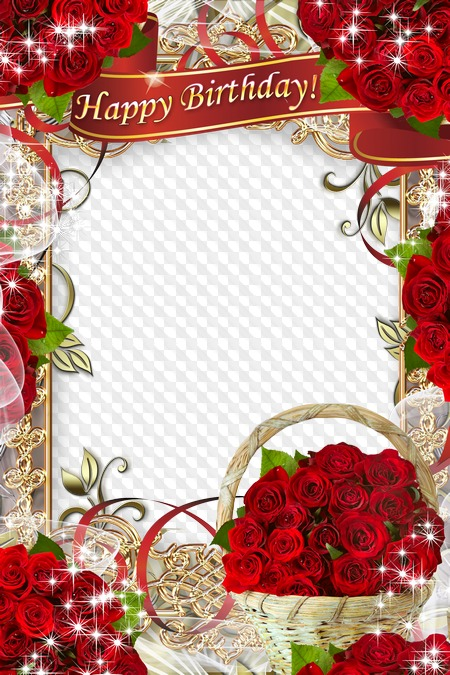 Greeting Psd Frame We Congratulate Happy Birthday Wonderful