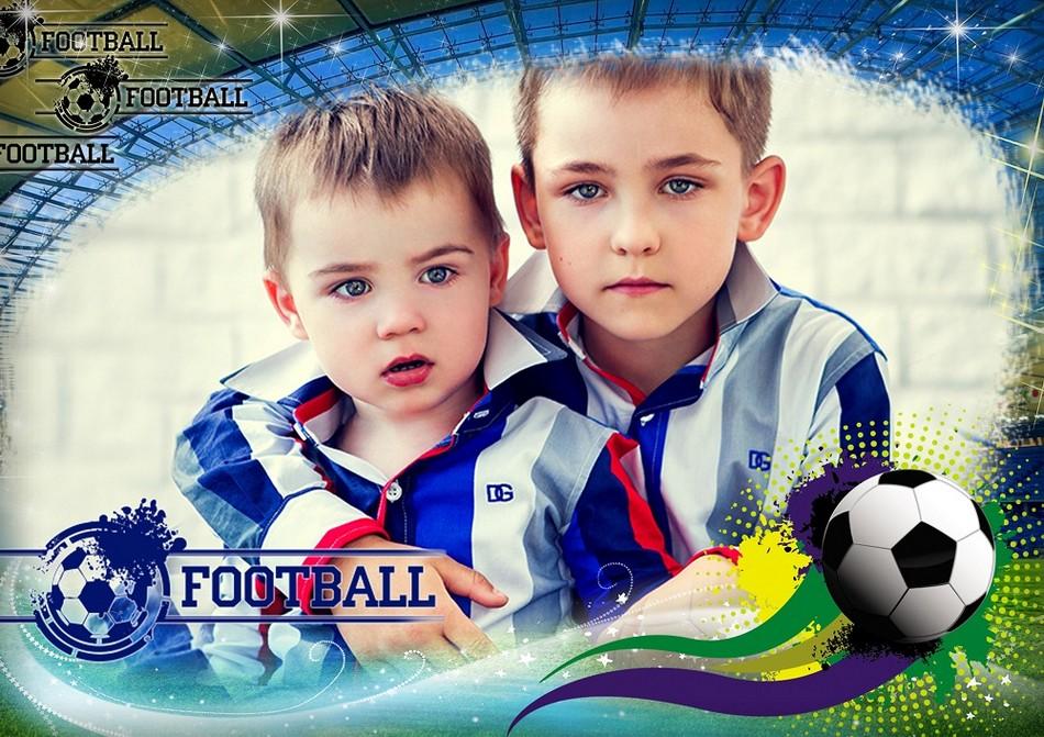 Fútbol, marco psd, png. Marco PNG transparente, PSD Plantilla marco ...