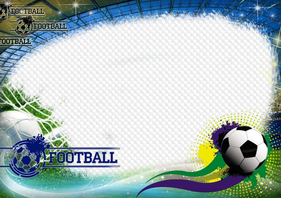 PSD, PNG, Fútbol, horizontal marco de fotos. Marco PNG transparente ...