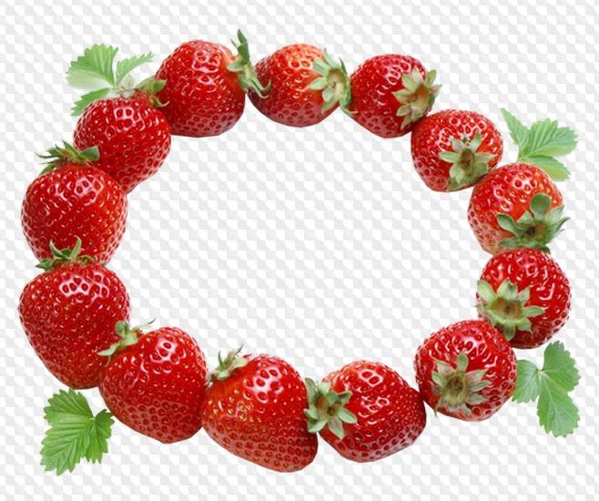 нас рамка для фото в виде ягодки является