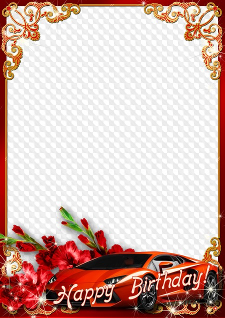 Happy Birthday Photo Frame For Mens Photo Transparent PNG Frame
