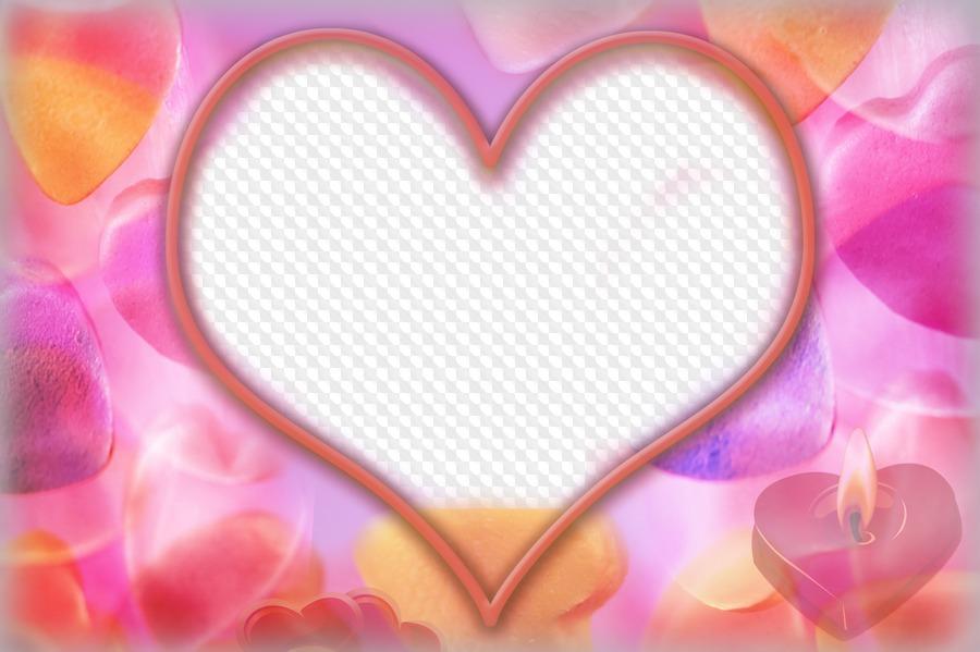 Marco de fotos Corazón. Marco PNG transparente, Plantilla de marco ...