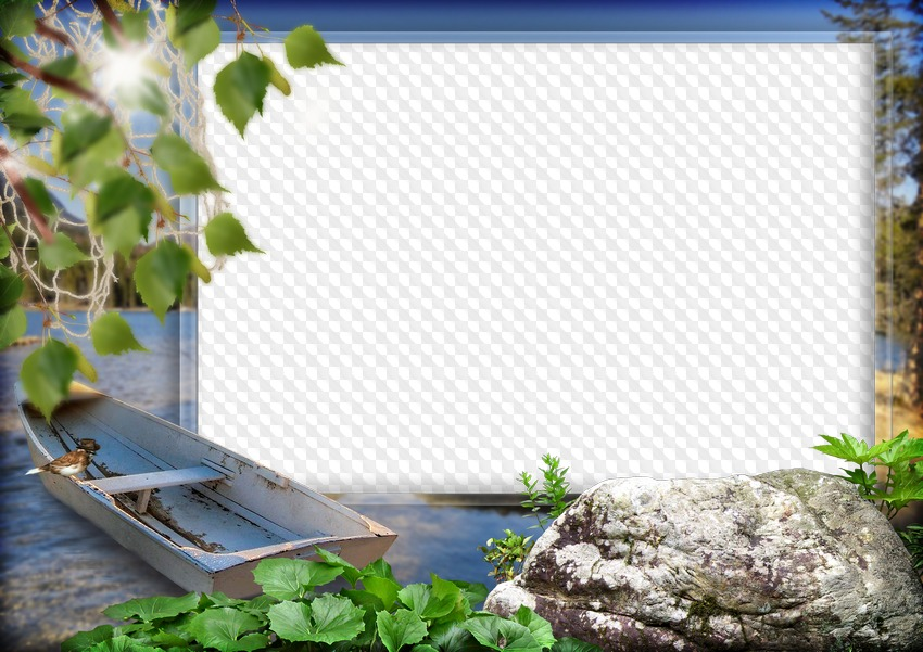Fishing, photo frame template. Transparent PNG Frame, PSD Layered ...