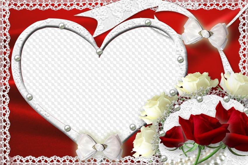 фоторамки на свадьбу в виде сердца забеременеть супругам