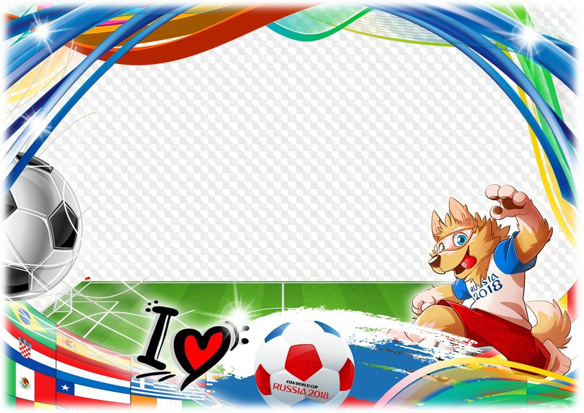 PSD, PNG, Photo Frame for football fans - We love football ...