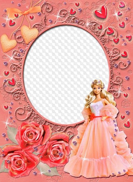 Niña, marco de fotos para una pequeña princesa Mi barbie favorita ...