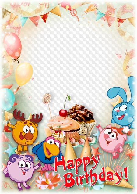Happy Birthday Frame Template For Childrens Photo Psd Frame