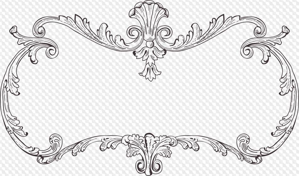 PSD, 19 PNG, Marcos ornamentales con fondo transparente