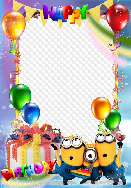 Happy birthday photo frame for children