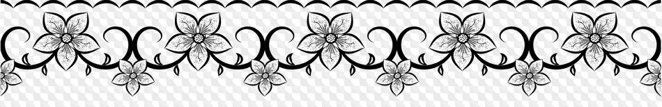10 Png Border With Flowers Black And White Image With