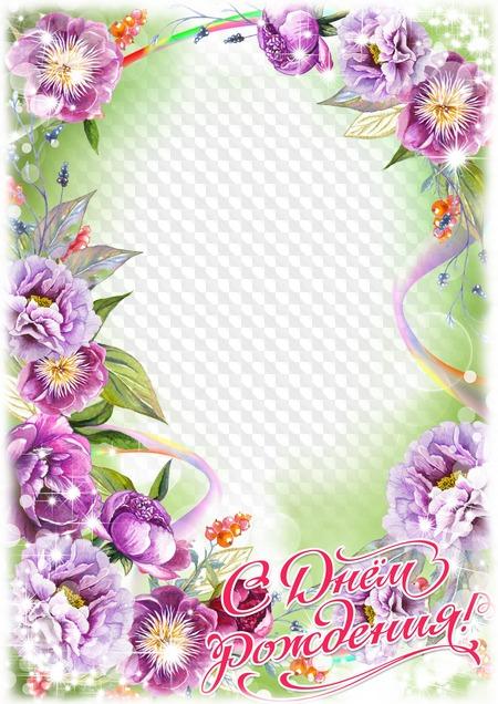 Фоторамка открытка с днем рождения женщине, енотом котом