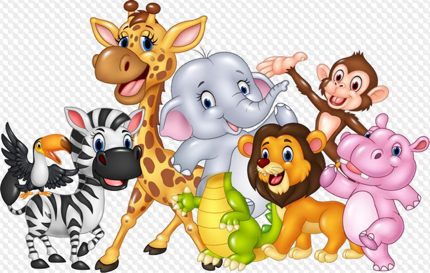 Картинка с животных мультяшных