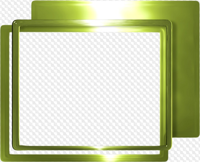 Gran conjunto de marcos PNG verdes