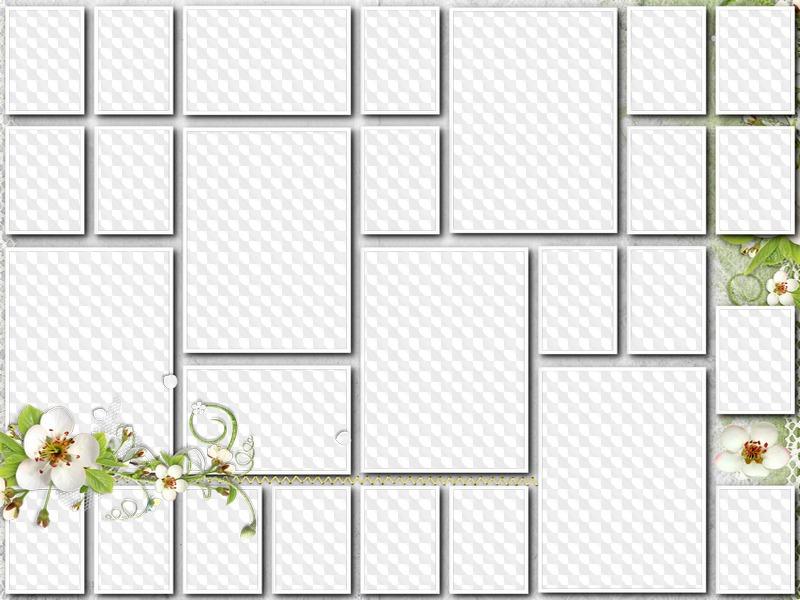 Wedding frame collage, 27 photo. Transparent PNG Frame, PSD Layered ...