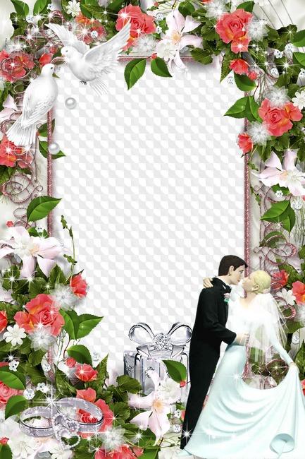 Свадебные фоторамки на тему жених