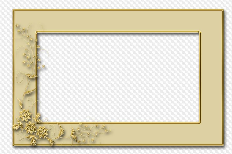 Conjunto de marcos dorados PNG, para Photoshop