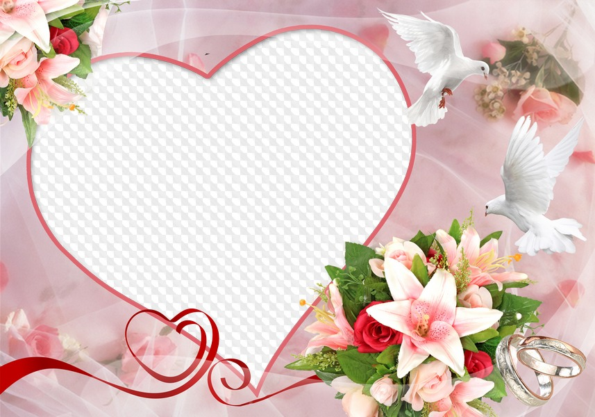 Анимации, шаблон открытка с днем свадьбы для фотошопа