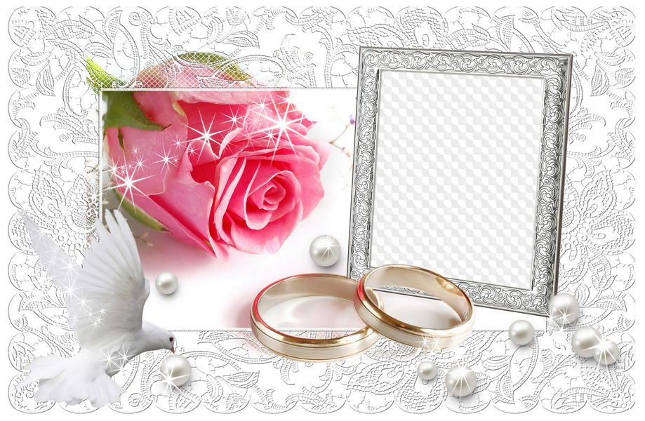 Фотошоп онлайн с днем свадьбы открытки