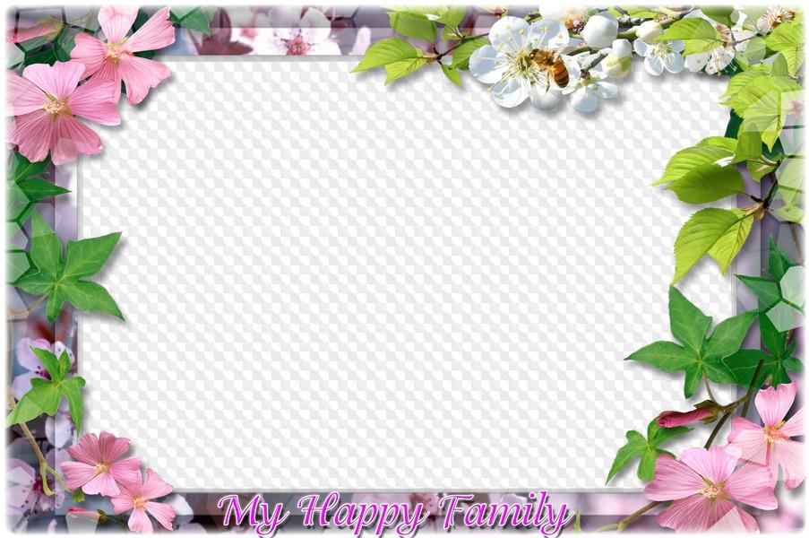 Family Photoframe Photoshop photo frame psd My Happy Family free ...