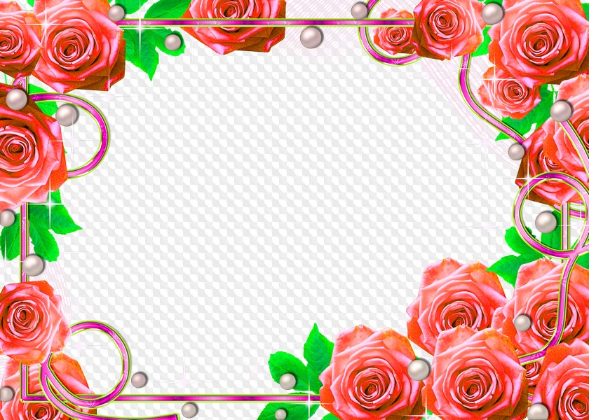 Flower frame for Photoshop - Happy Birthday free download ...