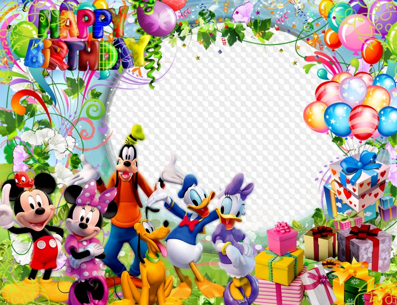 Personajes de dibujos animados Disney, marco de fotos feliz ...