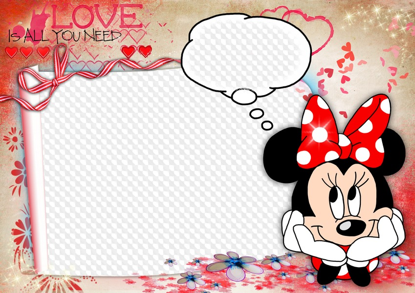 Minnie Mouse photo frame template. Transparent PNG Frame, PSD ...
