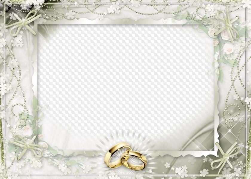 Свадебные рамка для открытки