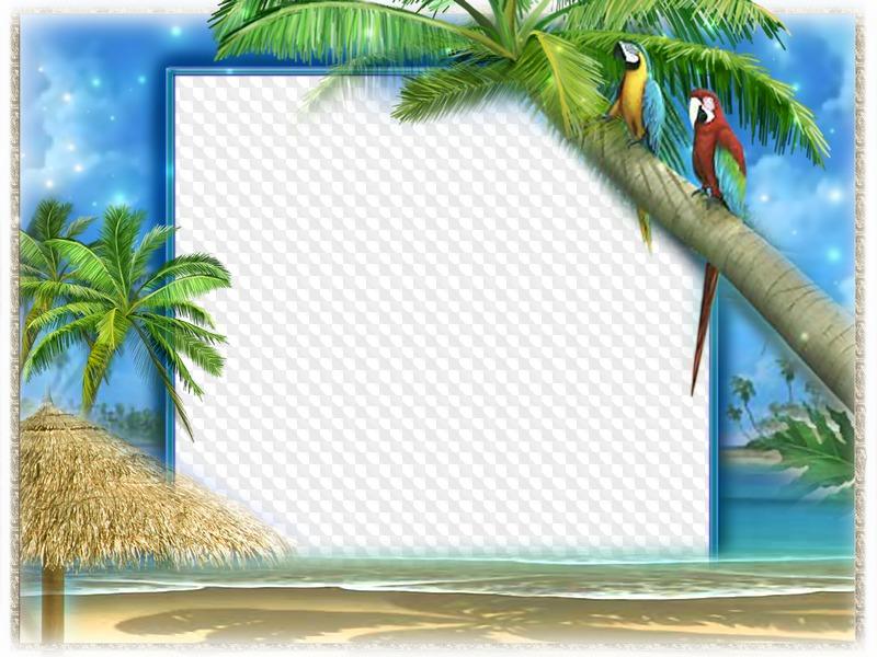 Vacaciones de verano en el mar, marcos para Photoshop
