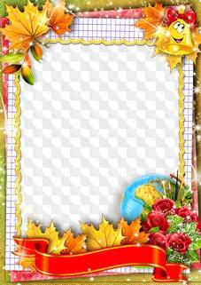 School frames, 12 PNG, PSD, download