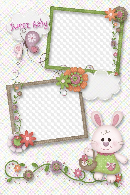 Kids Frames for Photoshop Sweet Baby boy and girl free download