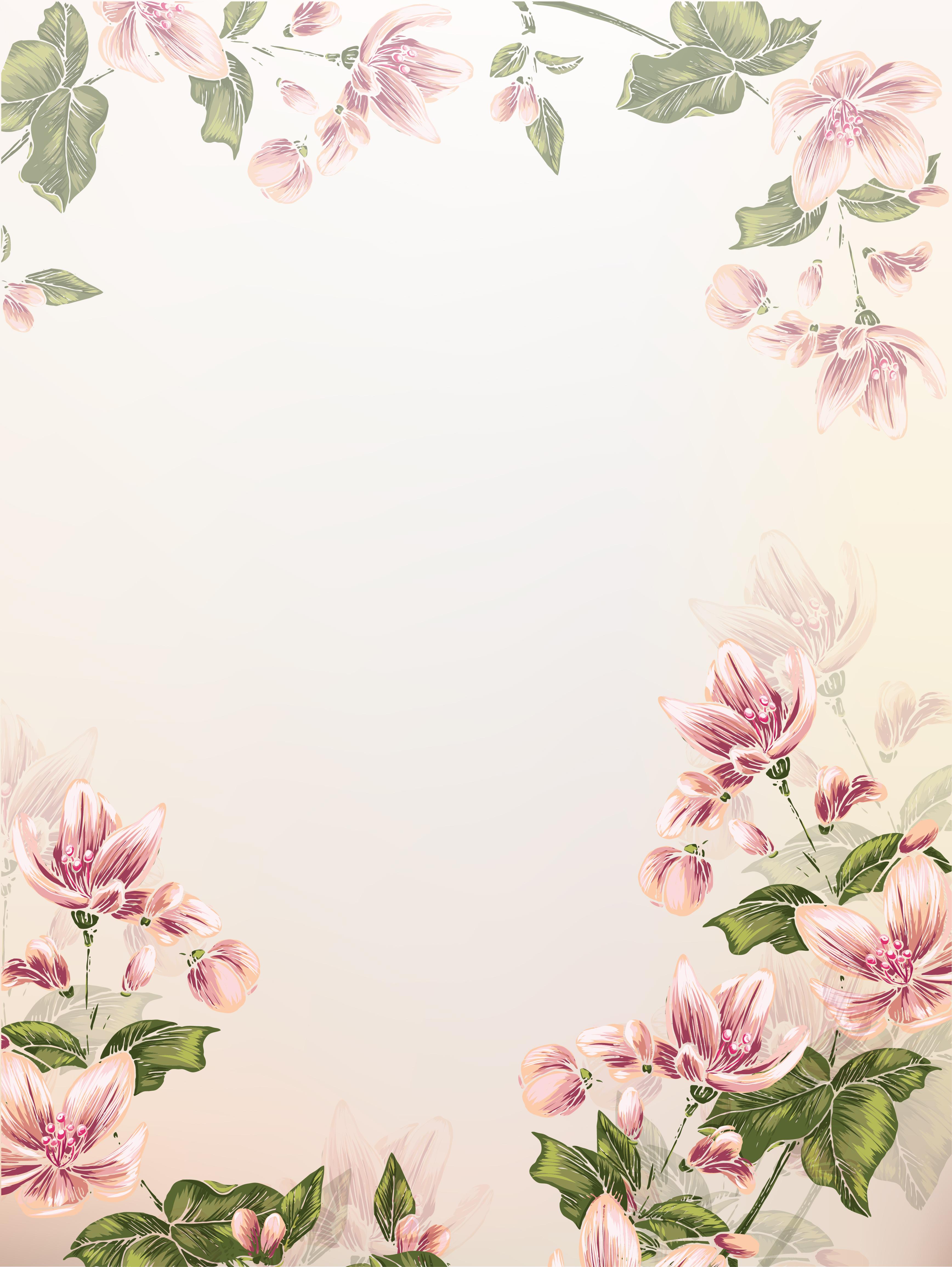 Цветы для открытки на а4
