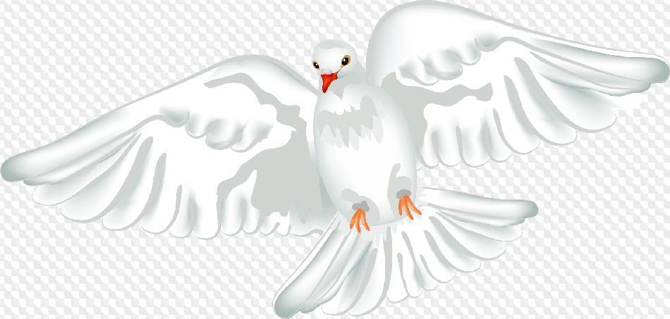 Открытка на венчание голуби