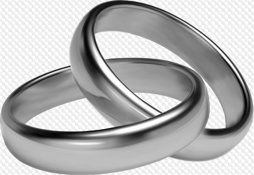 Psd 29 Png Gold And Silver Wedding Rings Graphics On Transparent