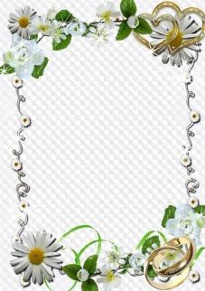 Wedding frames, photo frames, PNG, PSD, | Free download