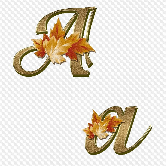 73 PNG, Bronce con hojas de arce Alfabeto, letras, números y ...