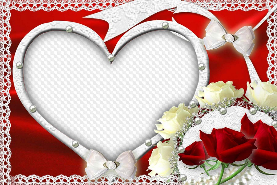 Romantic heart, photo frame. Transparent PNG Frame, PSD Layered ...