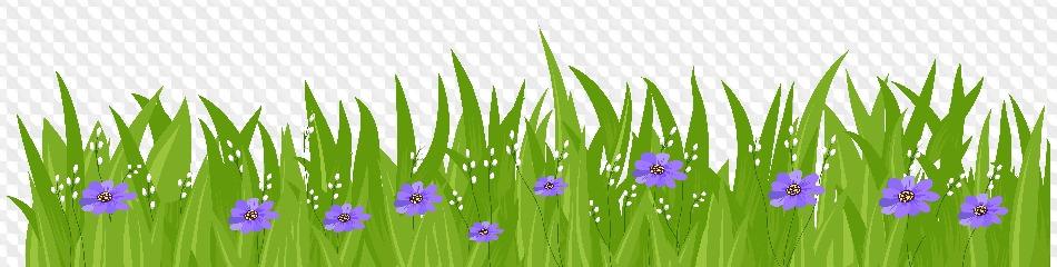 Трава и цветы картинки на прозрачном фоне между