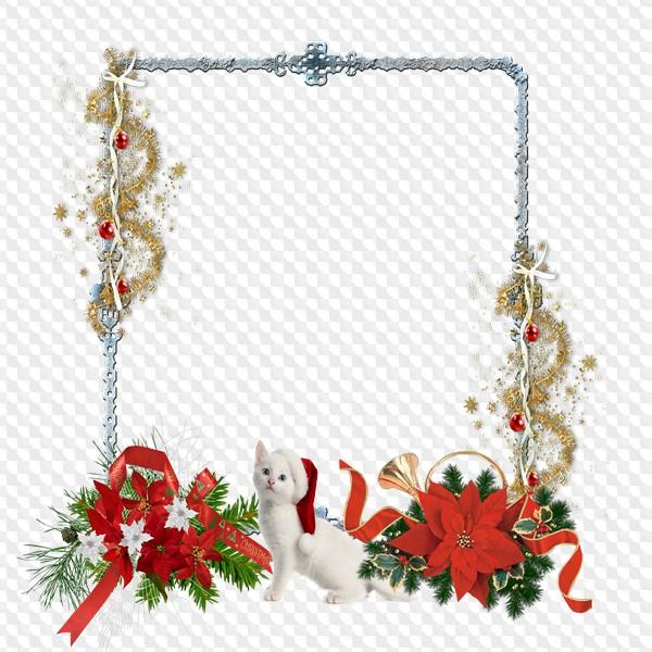 Christmas Chain Png.Christmas Frames Png With Snowflake Snowman Santa