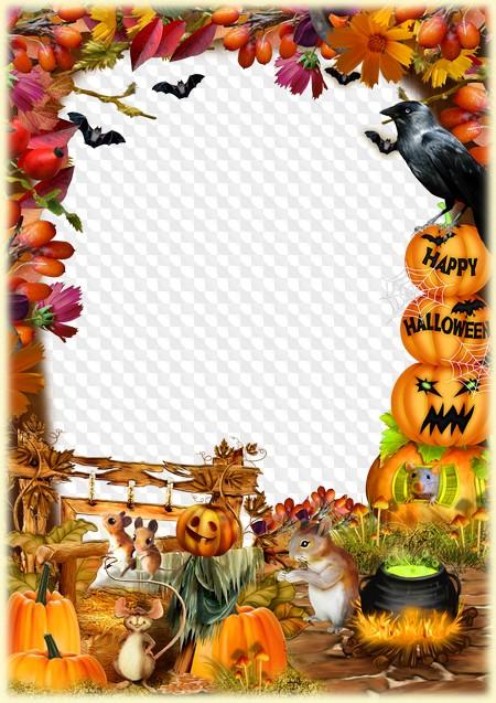 Halloween Photo Frame Happy Halloween Transparent Png Frame Psd