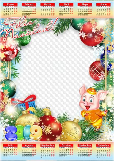 Imagenes De Navidad 2019.Feliz Navidad 2019 Calendario Png Psd Calendario Para