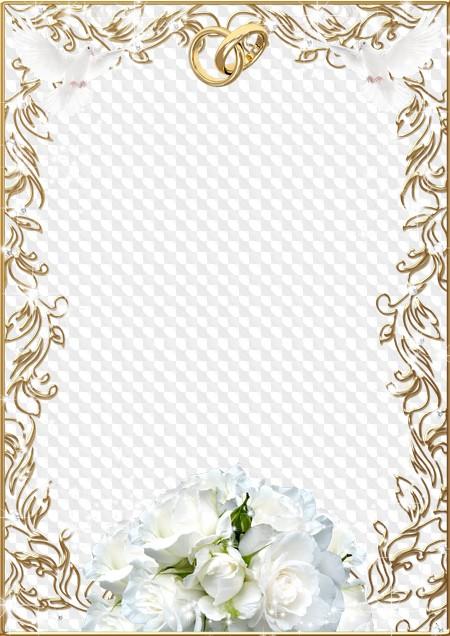 Wedding photo frame - The bridal bouquet. Transparent PNG Frame, PSD ...