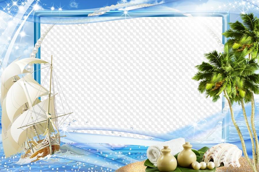Рамка для открытки морская тема, открытки поздравление
